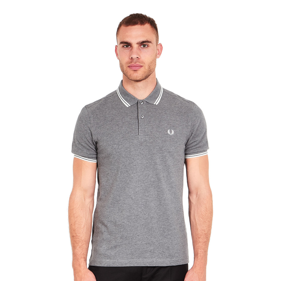 820422df0 Fred Perry - Twin Tipped Fred Perry Polo Shirt___ALT (Grey Marl ...