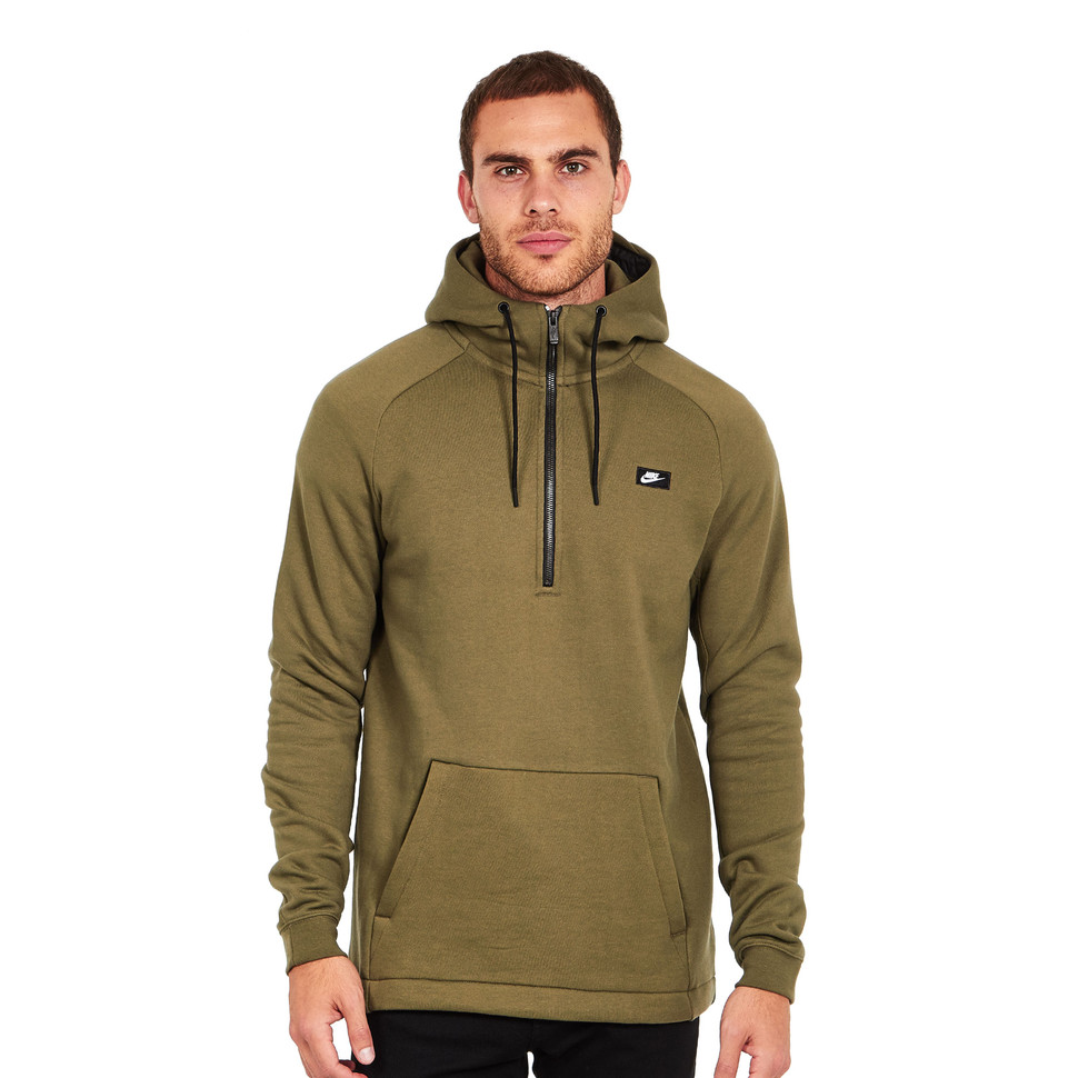nike nsw modern half zip hoodie bb medium olive. Black Bedroom Furniture Sets. Home Design Ideas