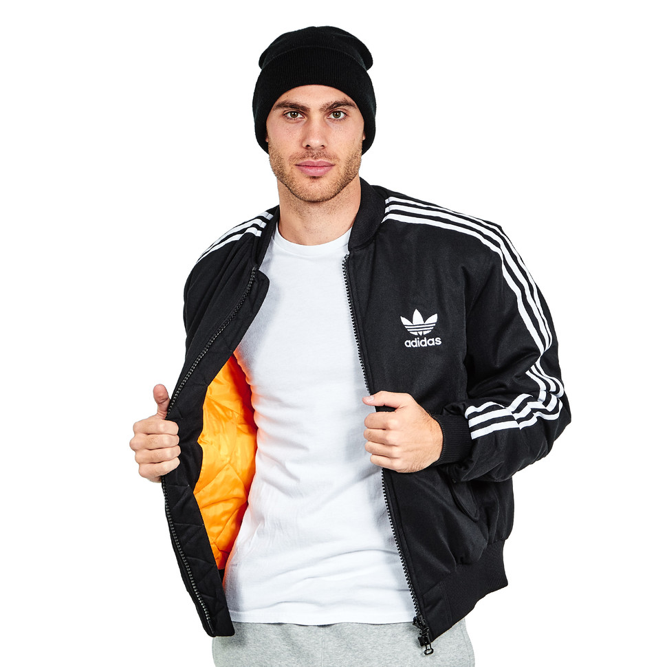 Adidas Ma1 Padded Mate Bomber Jacket Black Hhv