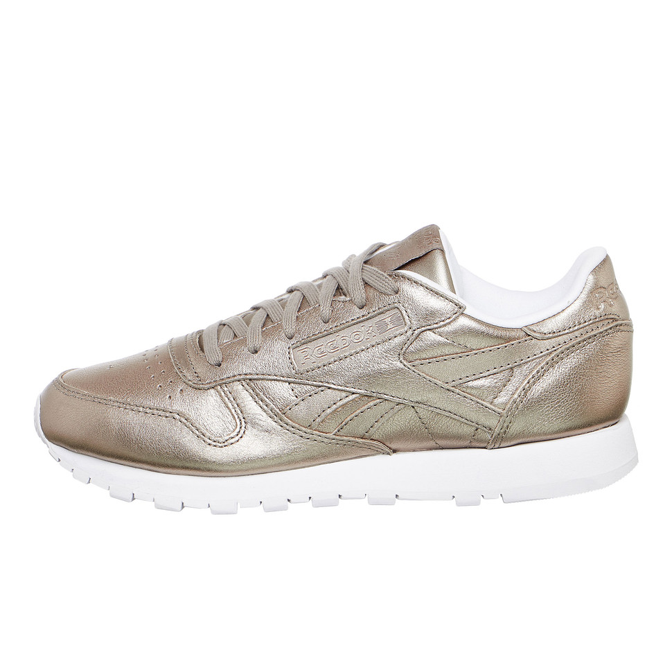 a86963f03eb Reebok x Gigi Hadid. Classic Leather Melted Metal (Pearl Metallic Grey Gold    White)