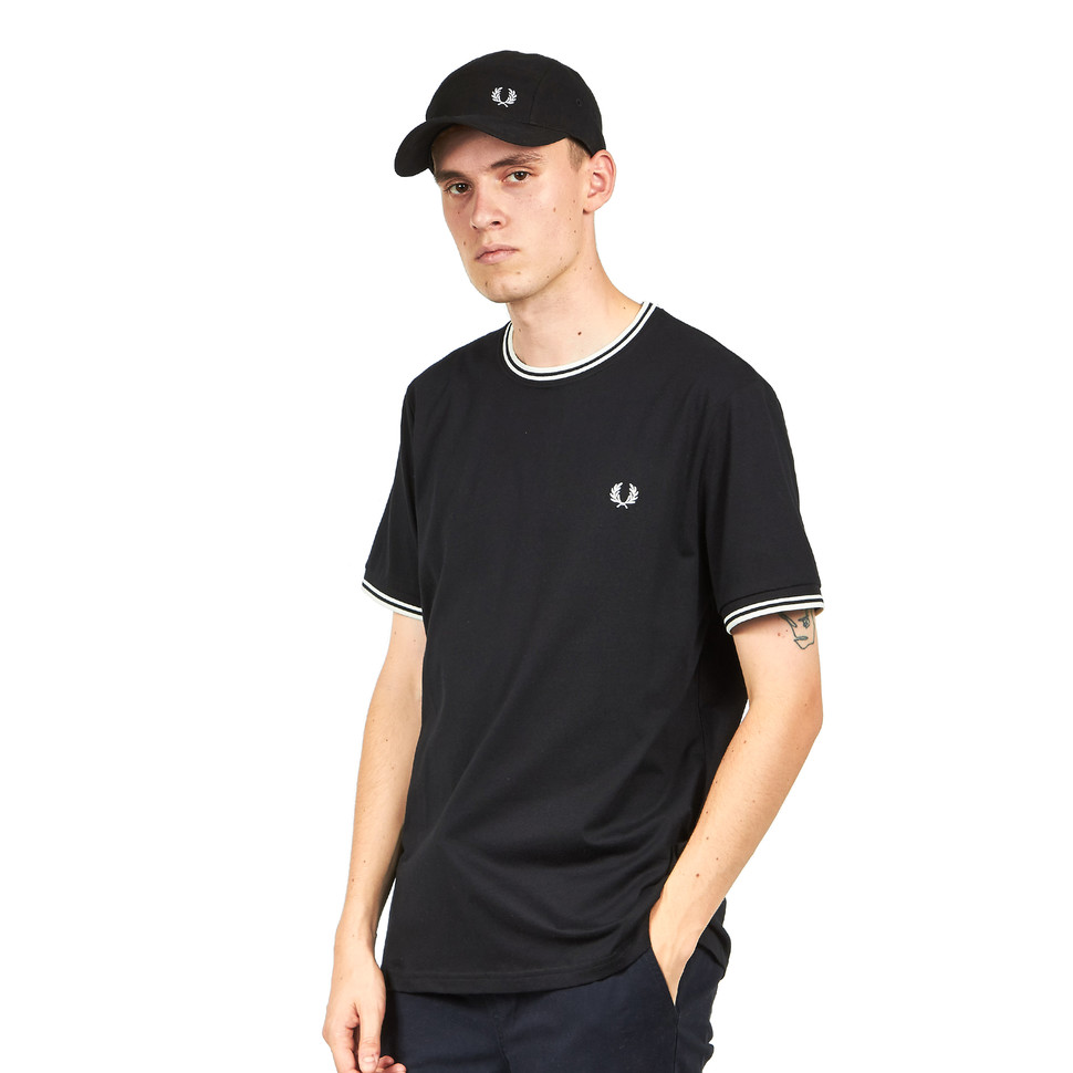fred perry twin tipped t shirt black. Black Bedroom Furniture Sets. Home Design Ideas