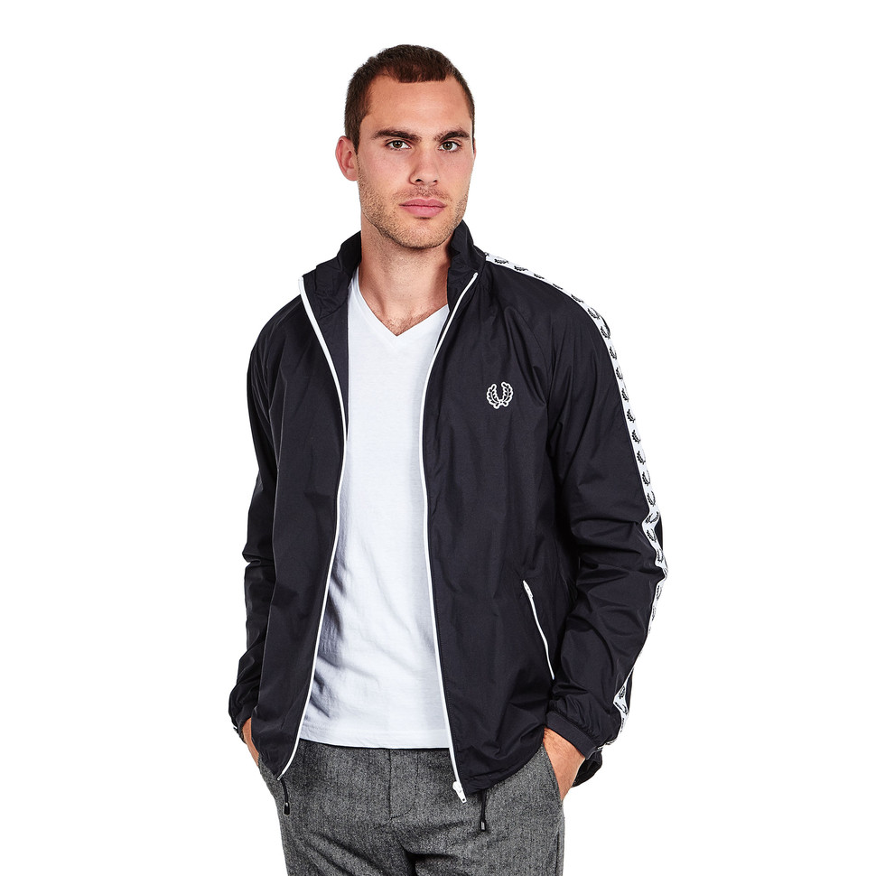 fred perry taped sports jacket black hhv. Black Bedroom Furniture Sets. Home Design Ideas