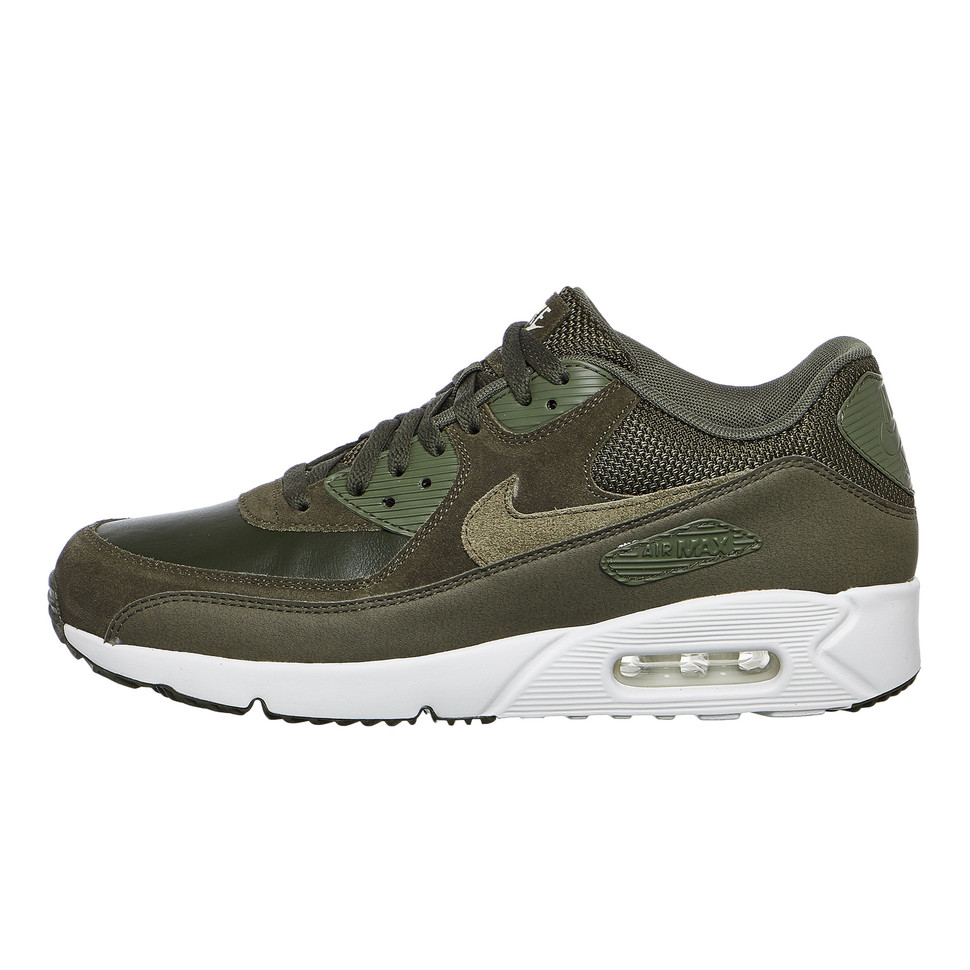 Nike - Air Max 90 Ultra 2.0 Leather (Cargo Khaki / Medium Olive / Summit  White) | hhv.de