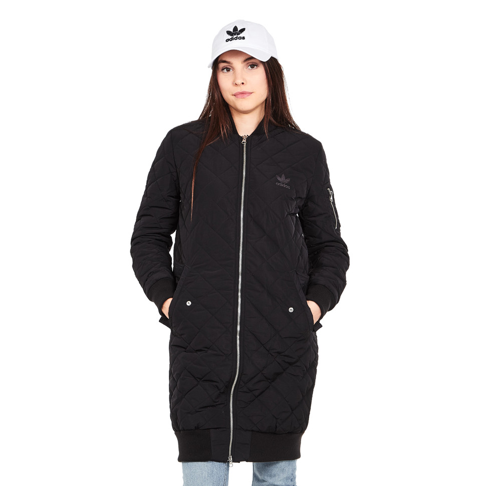 23b90dfc2 adidas - Long Bomber Quilted Jacket