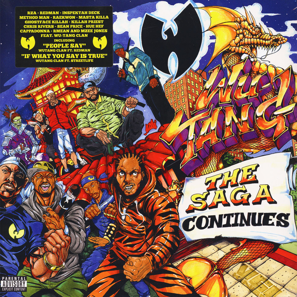 Wu Tang Clan The Saga Continues Orange Vinyl Edition