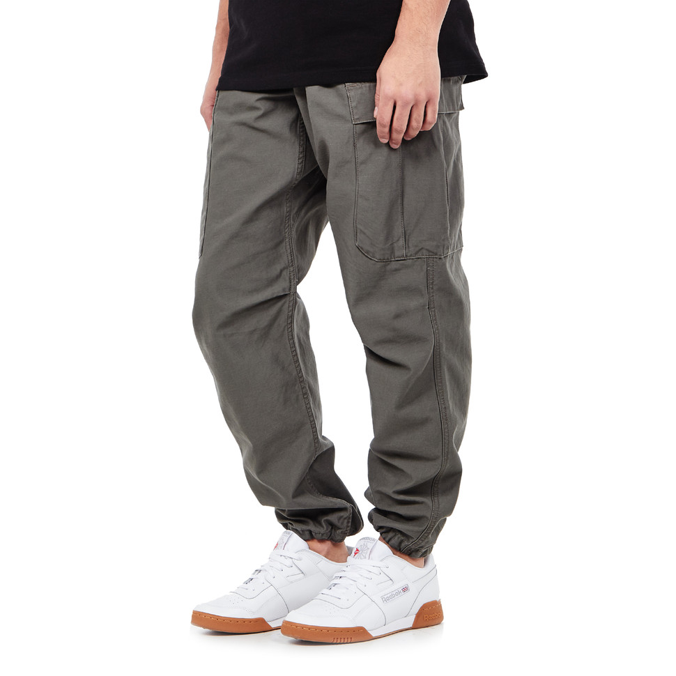 carhartt wip camper pant ness vice versa twill 8 oz moor stone washed hhv. Black Bedroom Furniture Sets. Home Design Ideas