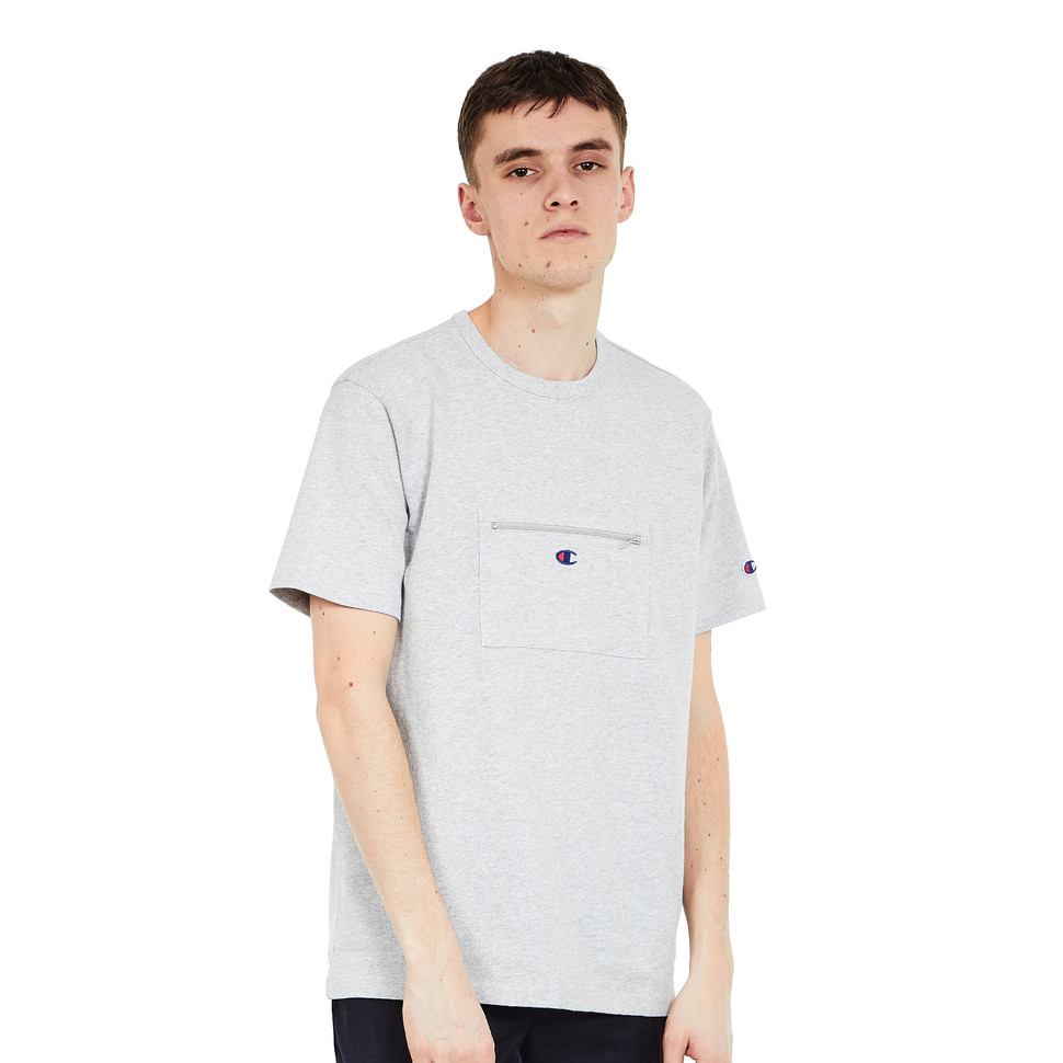 ac775c67f042 Champion Reverse Weave x Beams - Tee (Light Oxford Grey Melange)