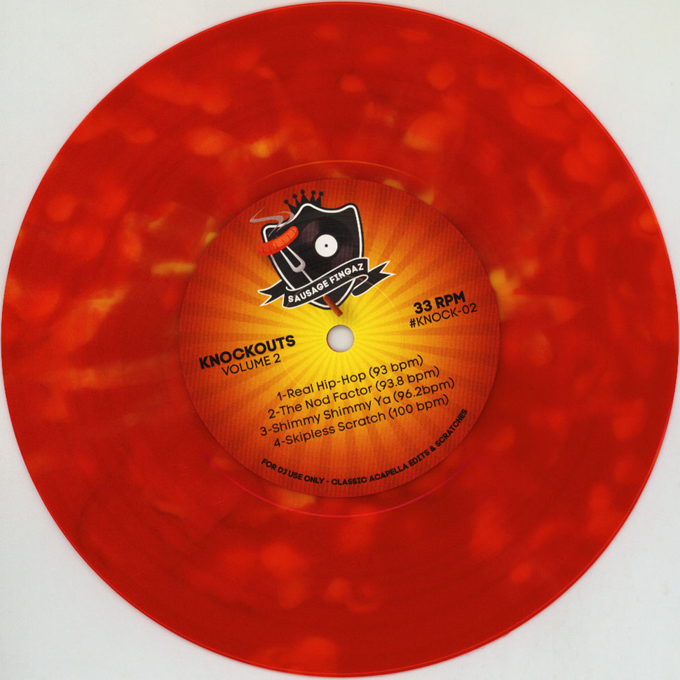 DJ Sausage Fingaz - Knockouts Volume 2 Red Splattered Vinyl