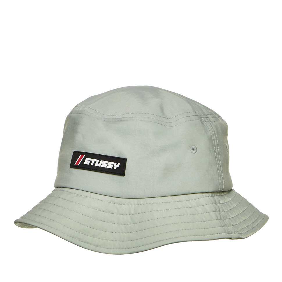 e0ff9f3ad Stüssy - Nylon Rubber Patch Bucket Hat