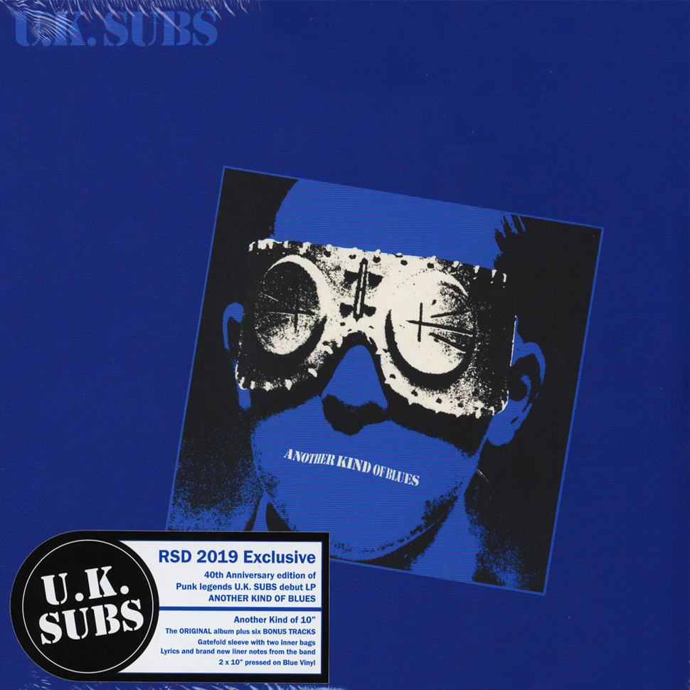 Uk Subs Another Kind Of Blues Blue Vinyl Record Store
