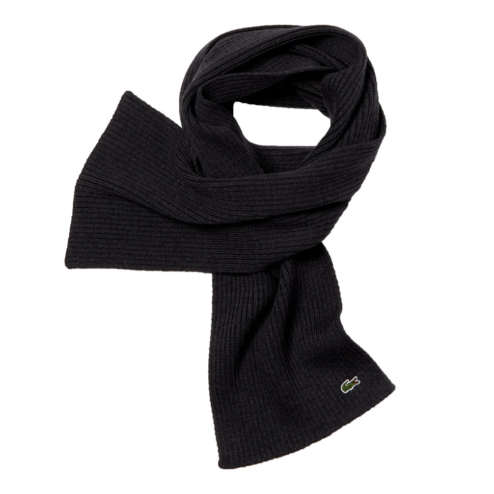 LACOSTE Rib Knitted Scarf