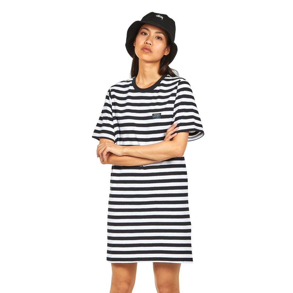 STÜSSY Murray Striped T-Shirt Dress