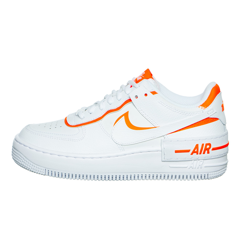 white and neon orange air force 1 Off 79%