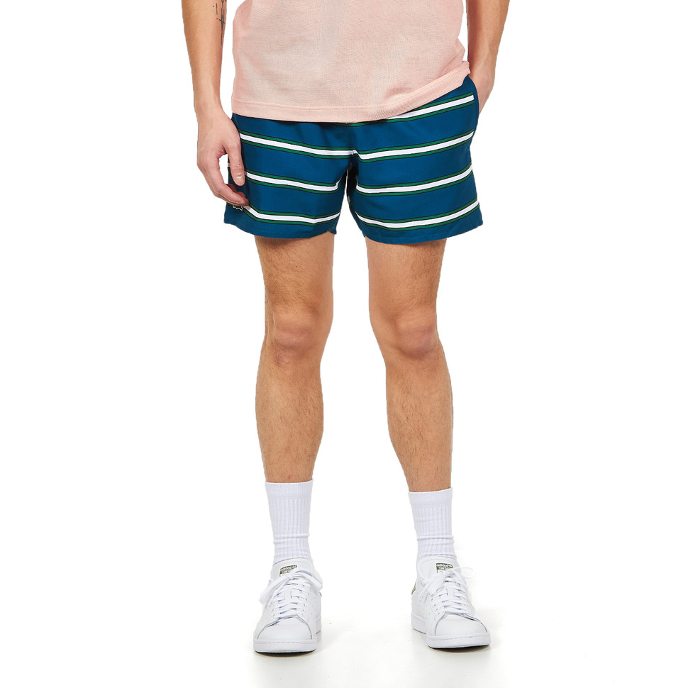 LACOSTE Striped Taffeta Shorts