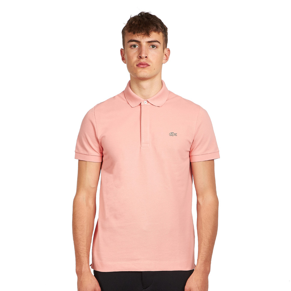 LACOSTE Short Sleeved Ribbed Collar Polo Shirt