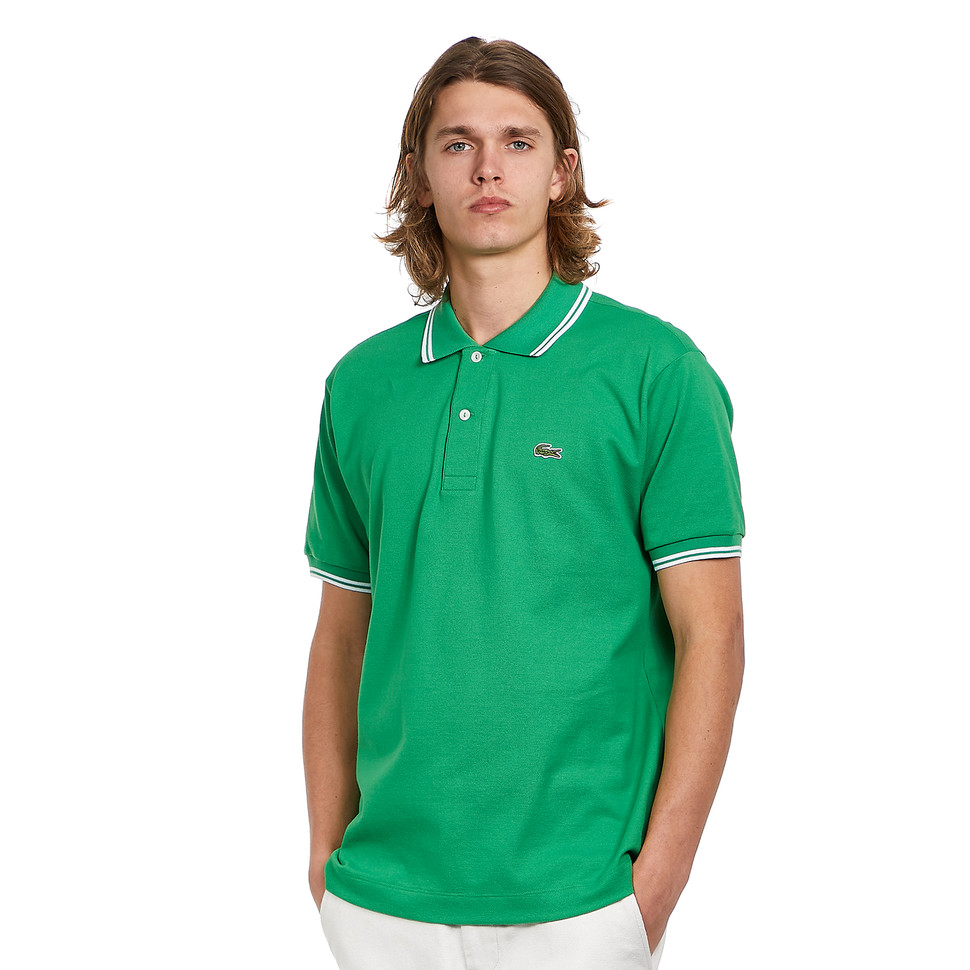 LACOSTE Short Sleeved Ribbed Collar Shirt | LACOSTE SALE