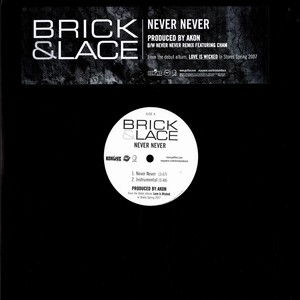 BRICK & LACE - Never never - 12 inch x 1
