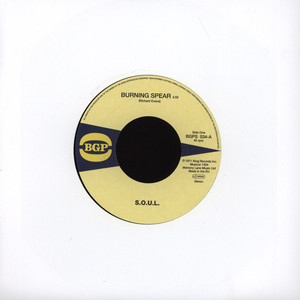 """S.O.U.L. - Burning Spear 7"""" Version / Do Whatever You Want To Do - 45T x 1"""