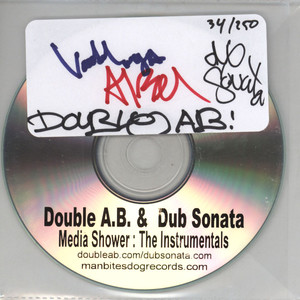 DOUBLE A.B. & DUB SONATA - Media Shower: The Instrumentals - CD