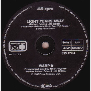 WARP 9 - Light Years Away - Maxi x 1