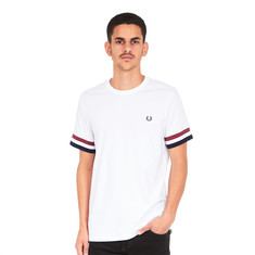 Fred Perry - Striped Cuff T-Shirt