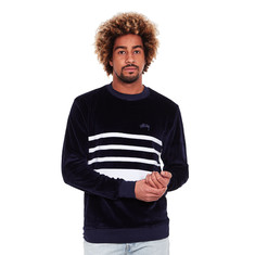 Stüssy - Velour Stripe Crew Sweater