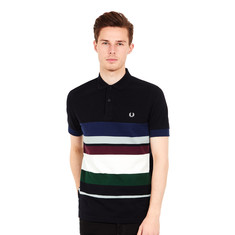 Fred Perry - Multi Stripe Pique Polo Shirt